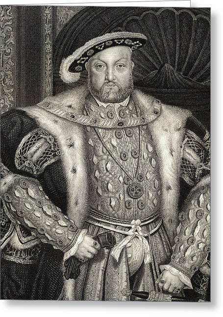 Portrait Of King Henry Viii  Greeting Card