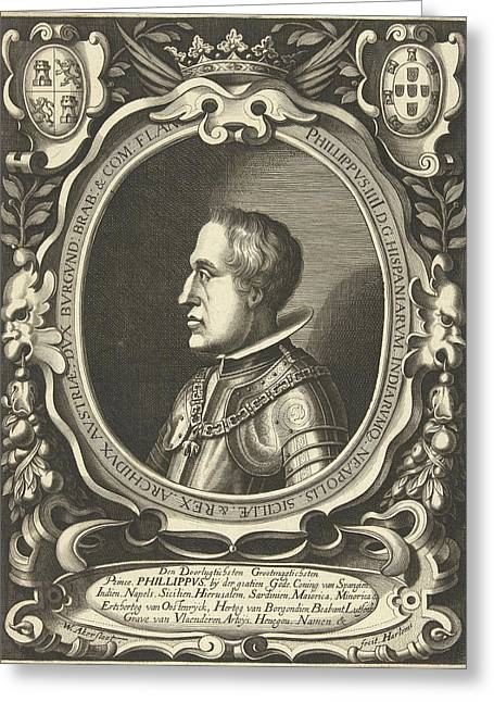 Portrait Of King Philip Iv Of Spain Greeting Card by Willem Outgertsz. Akersloot