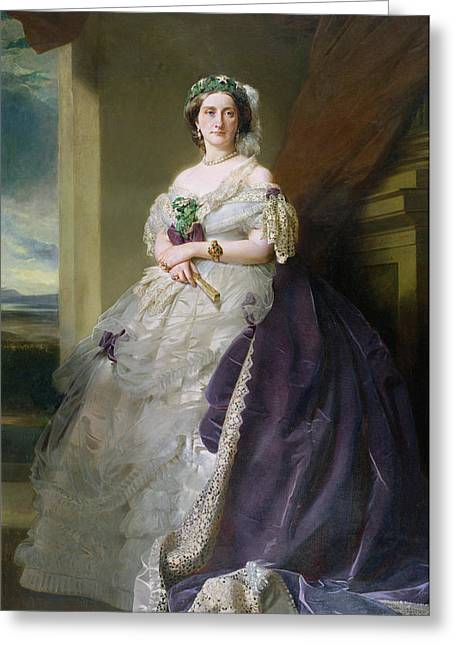 Portrait Of Lady Middleton 1824-1901, 1863 Greeting Card