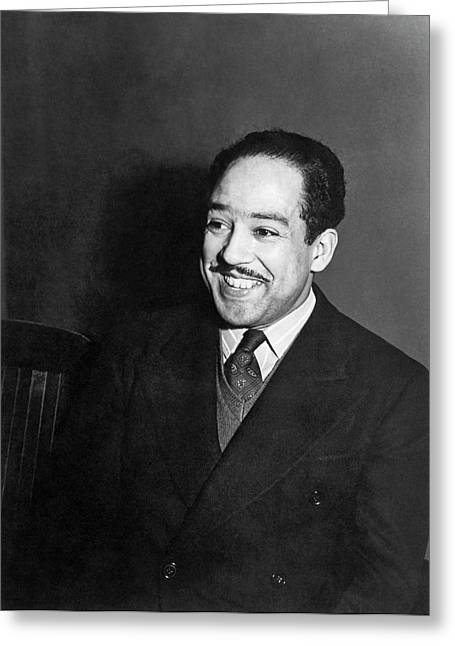 Portrait Of Langston Hughes Greeting Card by Jack Delano