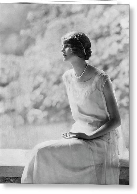 Portrait Of Laura Biddle Greeting Card by Edward Steichen