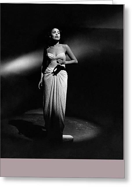 Portrait Of Lena Horne Greeting Card by John Rawlings