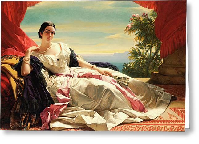 Portrait Of Leonilla, Princess Of Sayn-wittgenstein-sayn Greeting Card