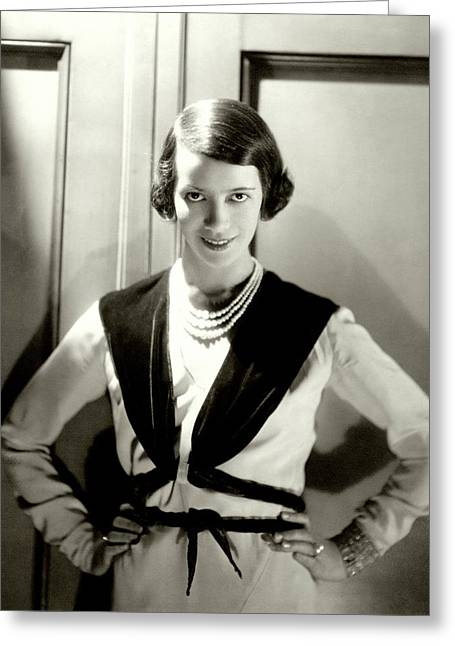 Portrait Of Lily Pons Greeting Card by Cecil Beaton