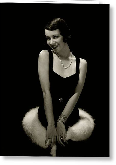 Portrait Of Lily Pons Greeting Card by Edward Steichen