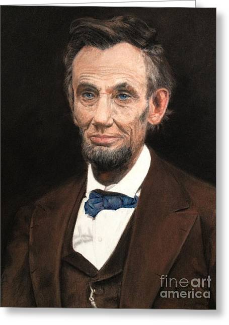 Portrait Of Lincoln Greeting Card