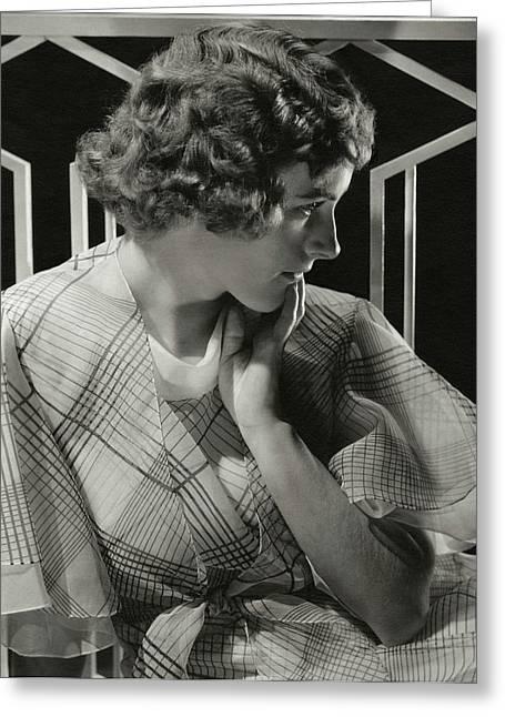 Portrait Of Lois Moran Greeting Card by Edward Steichen