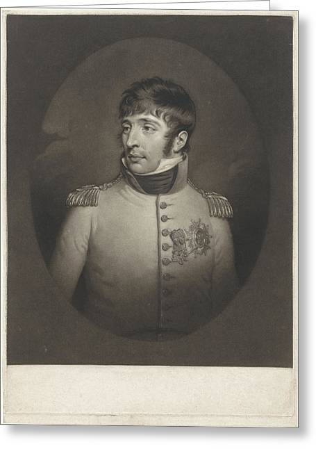Portrait Of Louis Napoleon Bonaparte Known As Lodewijk Greeting Card by Charles Howard Hodges