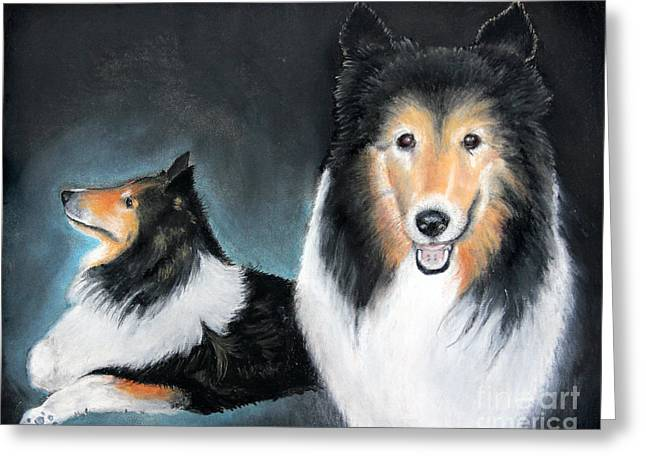 Portrait Of Love By George Wood Greeting Card