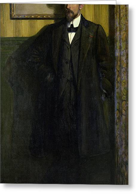Portrait Of Lucien Simon 1864-1945 1907 Oil On Canvas Greeting Card by Charles Cottet