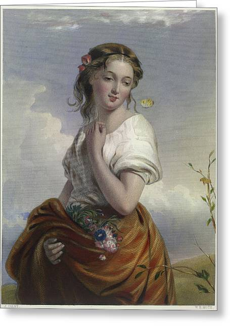 Portrait Of Lucy Greeting Card by British Library