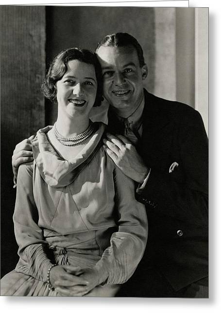 Portrait Of Lynn Fontanne And Alfred Lunt Greeting Card by Charles Sheeler