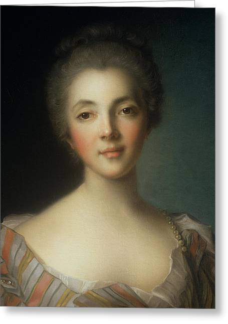 Portrait Of Madame Dupin Greeting Card by Jean-Marc Nattier