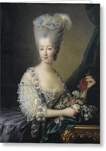 Portrait Of Madame La Comtesse D'artois Greeting Card