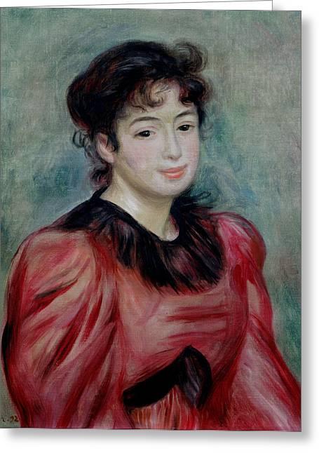 Portrait Of Mademoiselle Victorine De Bellio 1863-1957 1892 Oil On Canvas Greeting Card