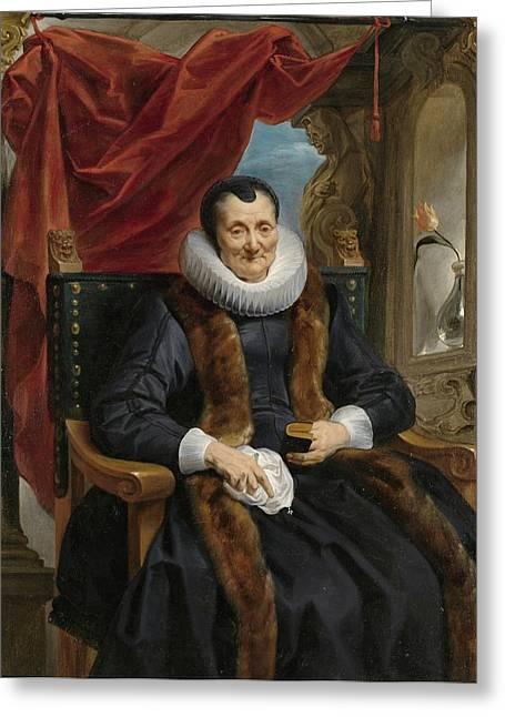 Portrait Of Magdalena De Cuyper Greeting Card