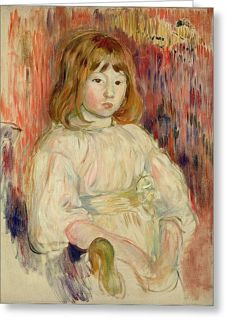 Portrait Of Marcelle, 1895 Oil On Canvas Greeting Card by Berthe Morisot