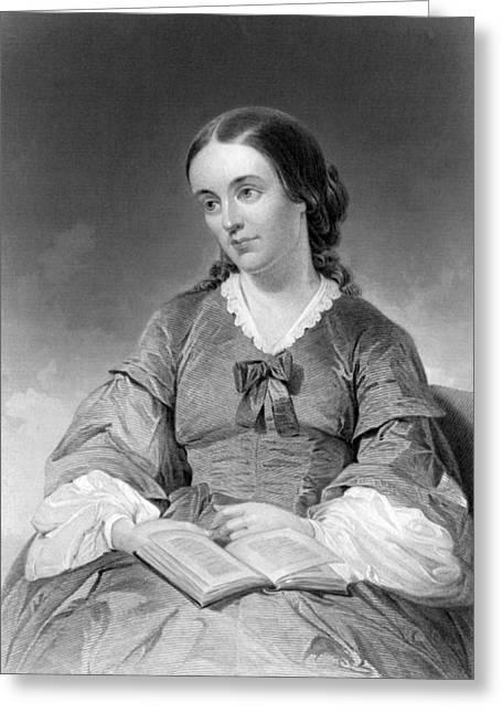 Portrait Of Margaret Fuller Greeting Card