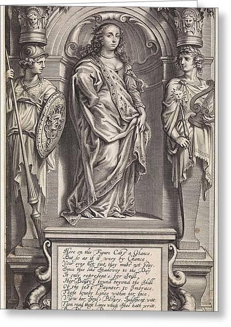 Portrait Of Margaret Lucas, Print Maker Pieter Van Schuppen Greeting Card