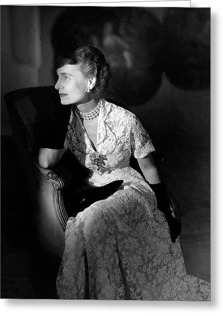 Portrait Of Margaret Thomas Biddle Greeting Card by Horst P. Horst