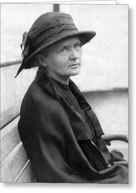 Portrait Of Marie Curie Greeting Card