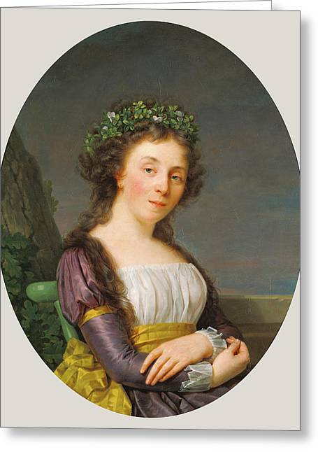 Portrait Of Marie-louise Joubert, Neé Poulletier De Greeting Card by Litz Collection