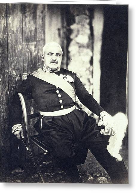 Portrait Of Marshal Pelissier During The Crimean War Greeting Card by Artokoloro
