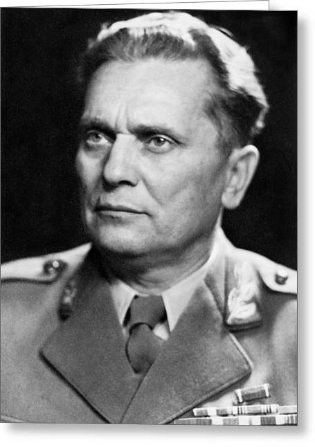 Portrait Of Marshal Tito Greeting Card by Underwood Archives