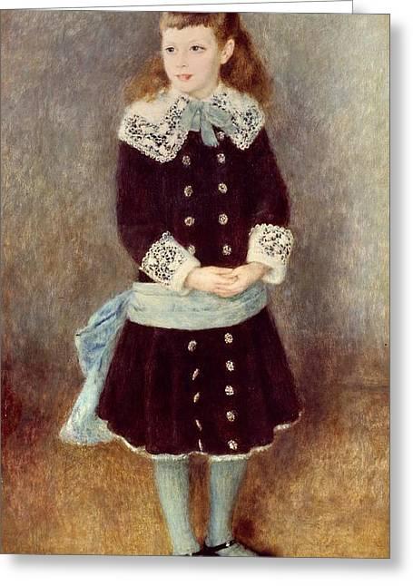 Portrait Of Martha Berard Greeting Card by Pierre-Auguste Renoir
