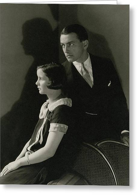 Portrait Of Mary Hay And Richard Barthelmess Greeting Card by Edward Steichen