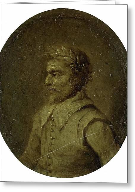 Portrait Of Matheus De Casteleyn, Priest And Rhetorician Greeting Card by Litz Collection