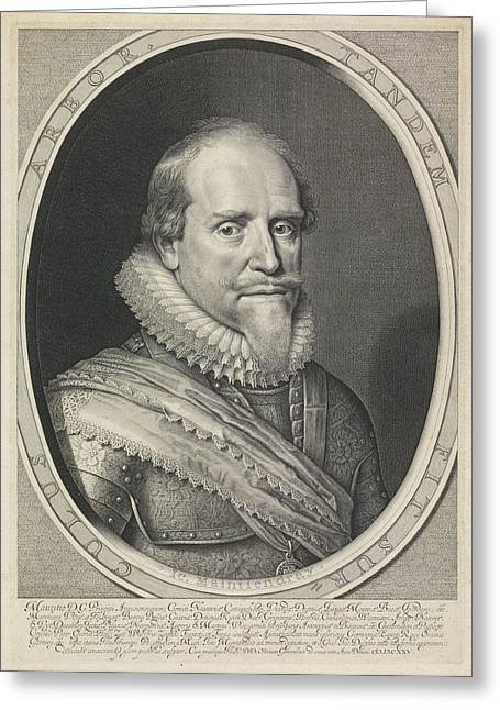 Portrait Of Maurits, Prince Of Orange Greeting Card