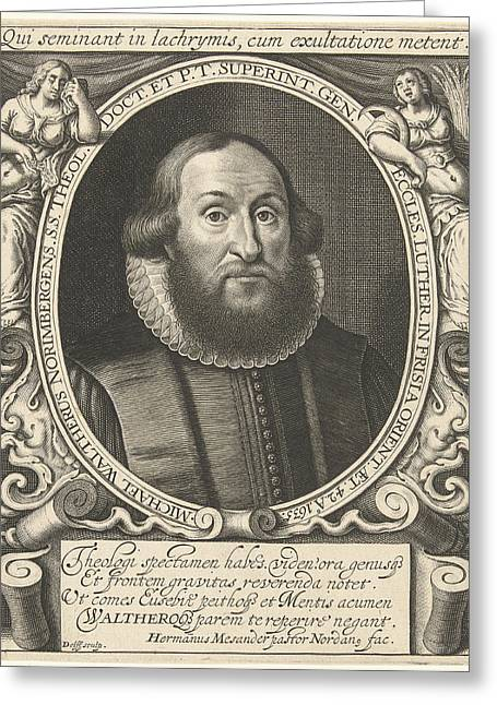 Portrait Of Michel Waltherus At The Age Of 42 Greeting Card