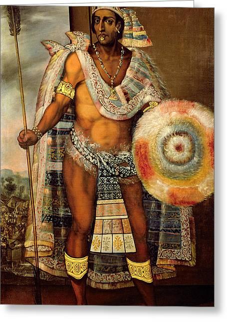 Portrait Of Montezuma II Greeting Card by European School