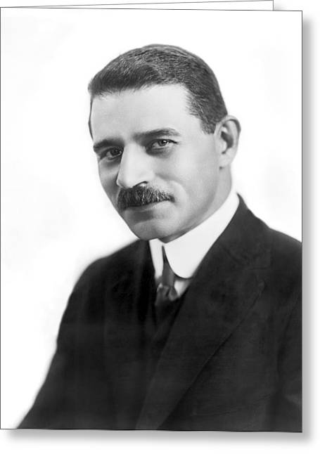 Portrait Of Morris Hillquit Greeting Card