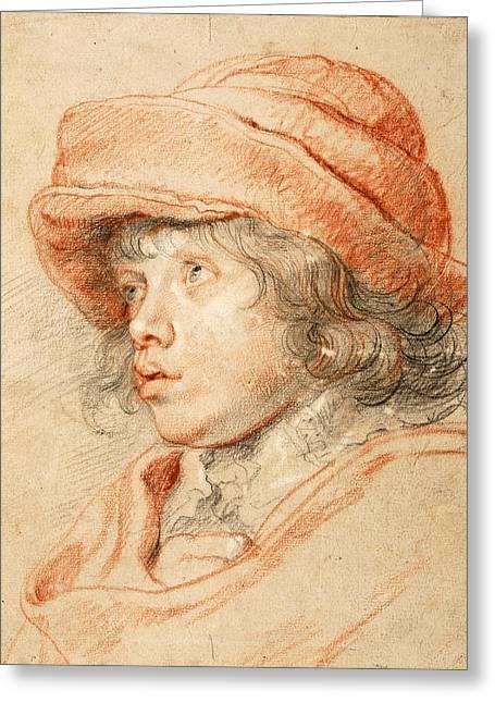Portrait Of Nicolaas Rubens Greeting Card