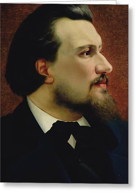 Portrait Of Nikolay Leskov Greeting Card by Anatoly Lelakow