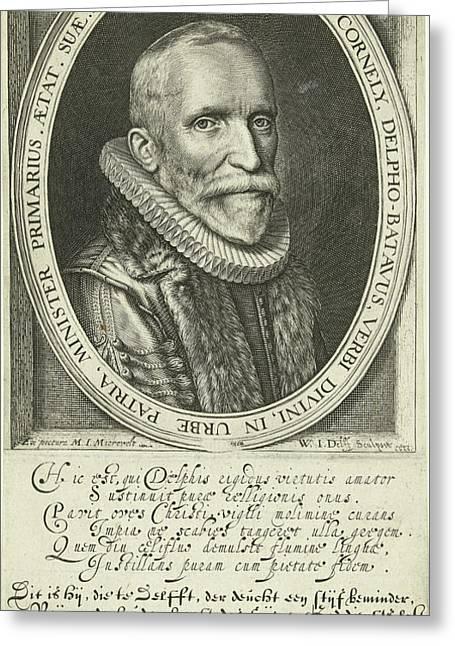 Portrait Of Pastor Arnold Cornelisz. Crusius At The Age Greeting Card