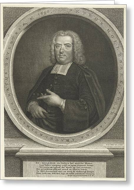 Portrait Of Peter Hollebeek, Robert Van Den Hoecke Greeting Card by Robert Van Den Hoecke