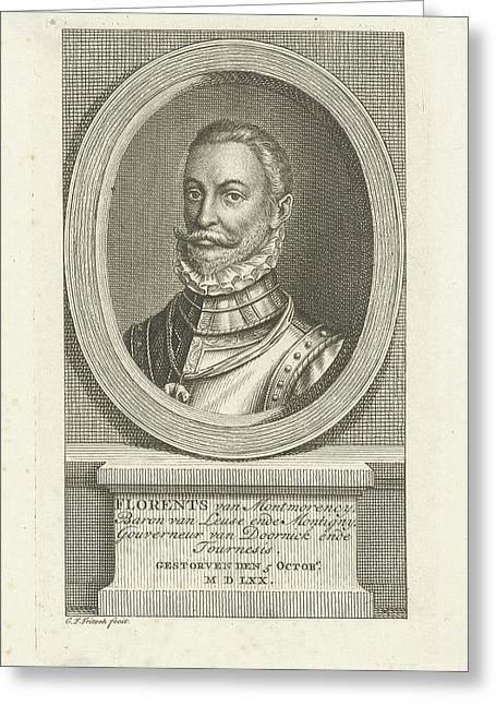 Portrait Of Philip De Montmorency, Baron Montigny Greeting Card by Baron Montigny And Christian Friedrich Fritzsch