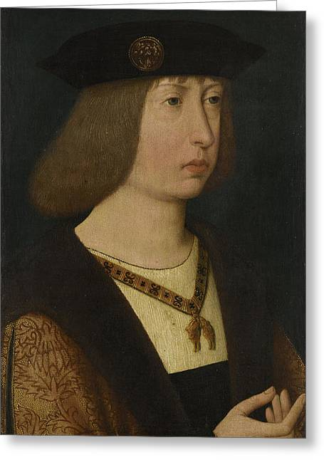 Portrait Of Philip The Fair, Duke Of Burgundy Greeting Card by Quint Lox
