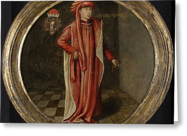 Portrait Of Philip The Good, Duke Of Burgundy Greeting Card by Litz Collection