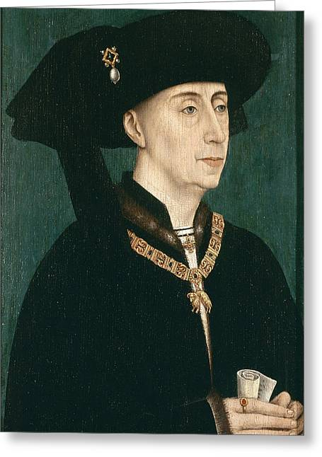 Portrait Of Philip The Good  Greeting Card