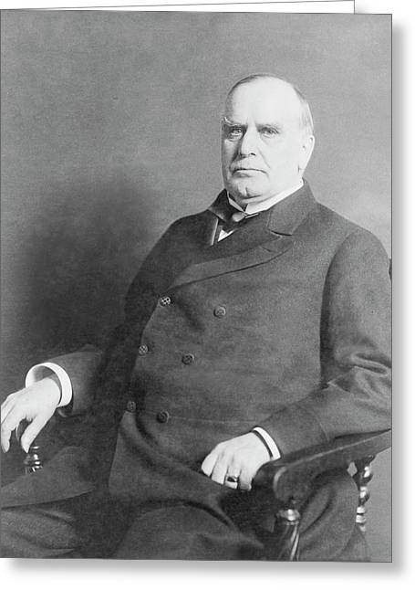 Portrait Of President William Mckinley Greeting Card