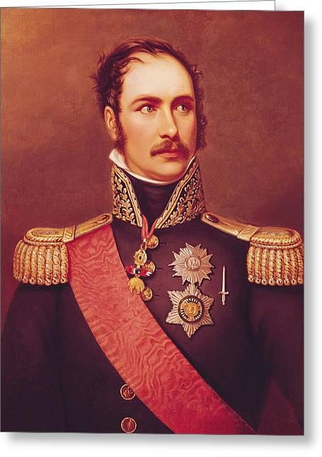 Portrait Of Prince Eugene De Beauharnais 1781-1824 Viceroy Of Italy And Duke Of Leuchtenberg Oil Greeting Card