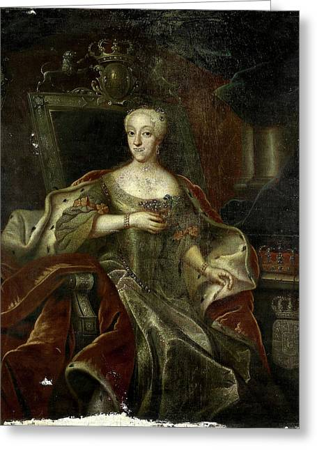 Portrait Of Princess Charlotte Amalie, Daughter Greeting Card by Litz Collection