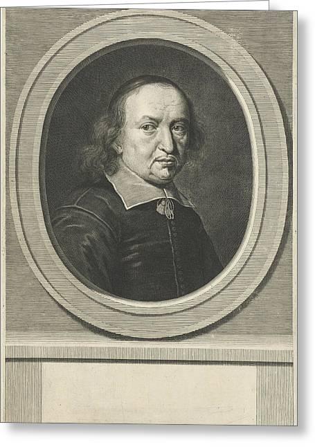 Portrait Of Reinhold Curike Greeting Card by Johannes Willemsz. Munnickhuysen