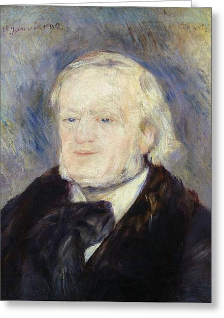 Portrait Of Richard Wagner Greeting Card by Pierre Auguste Renoir