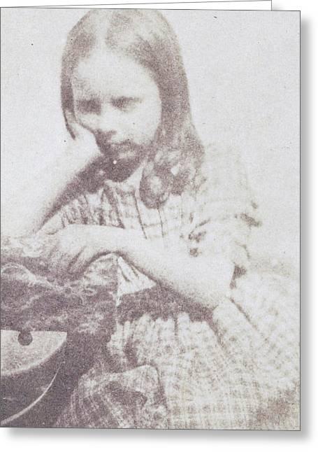 Portrait Of Rosamond Constance Fox Talbot Greeting Card by Artokoloro