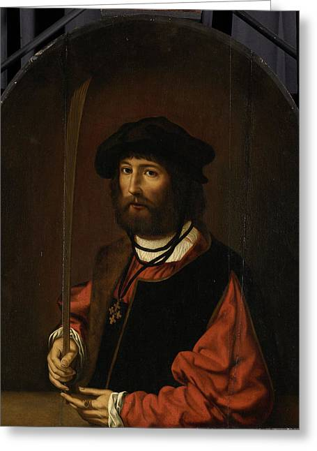 Portrait Of Ruben Parduyn, Knight Of The Holy Sepulchre Greeting Card